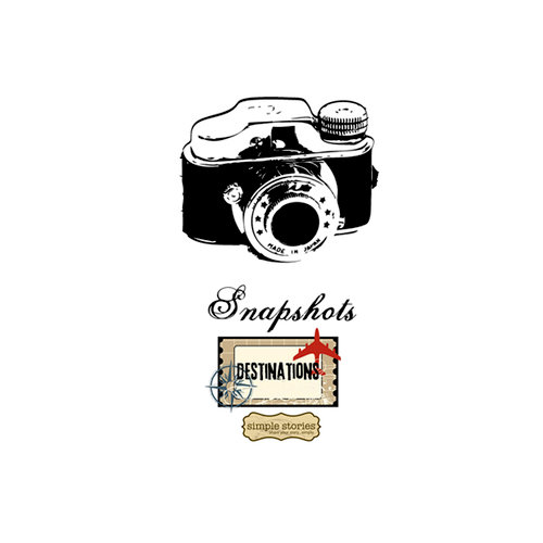 Unity Stamp - Simple Stories Collection - Itty Bitty - Unmounted Rubber Stamp - Snapshots