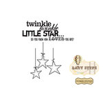 Unity Stamp - Simple Stories Collection - Itty Bitty - Unmounted Rubber Stamp - Twinkle Twinkle