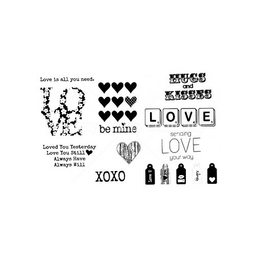 Jillibean Soup Collection - Unmounted Rubber Stamp - Hearty Barley by Unity Stamp