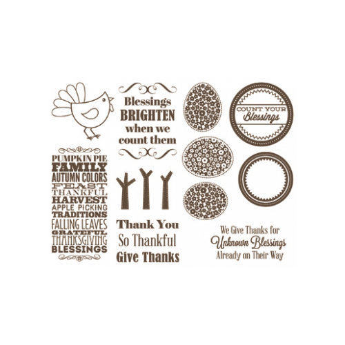 Unity Stamp - Jillibean Soup Collection - Unmounted Rubber Stamp - Country Pumpkin