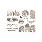 Unity Stamp - Jillibean Soup Collection - Unmounted Rubber Stamp - Winter Tortellini