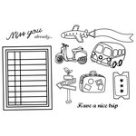 Unity Stamp - My Little Shoebox Collection - Unmounted Rubber Stamp - A Little Destination