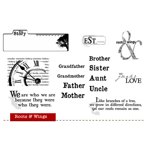 Unity Stamp - Unity Artista Collection - Unmounted Rubber Stamp Set - Roots and Wings
