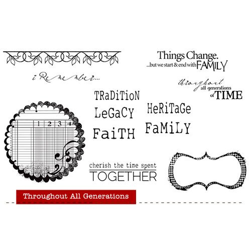Unity Stamp - Unity Artista Collection - Unmounted Rubber Stamp Set - Throughout All Generations