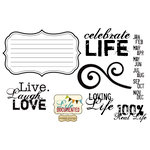 Unity Stamp - Simple Stories Collection - Unmounted Rubber Stamp - 100% Real Life
