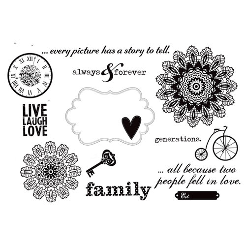 Unity Stamp - Simple Stories Collection - Unmounted Rubber Stamp - Generations