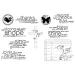 Unity Stamp - Unity Artista Collection - Unmounted Rubber Stamp Set - Faith