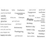 Unity Stamp - Unity Artista Collection - Unmounted Rubber Stamp Set - Heartfelt Sentiments
