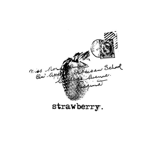 Unity Stamp - Unmounted Rubber Stamp - Strawberry Greetings