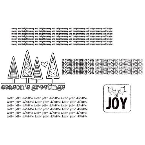 Unity Stamp - Unmounted Rubber Stamp - Holly Jolly Christmas