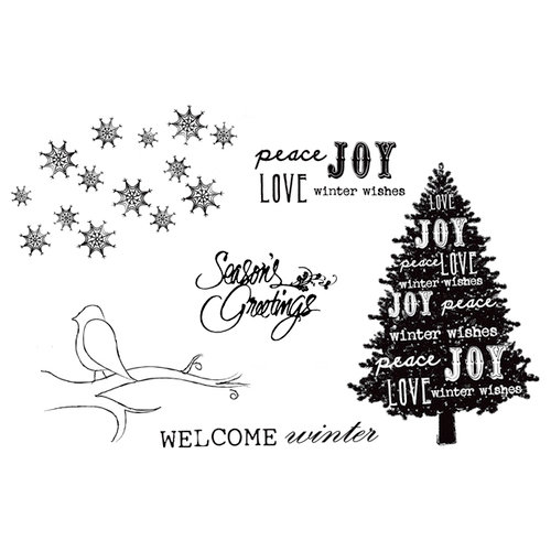 Unity Stamp - Unmounted Rubber Stamp - WELCOME Winter