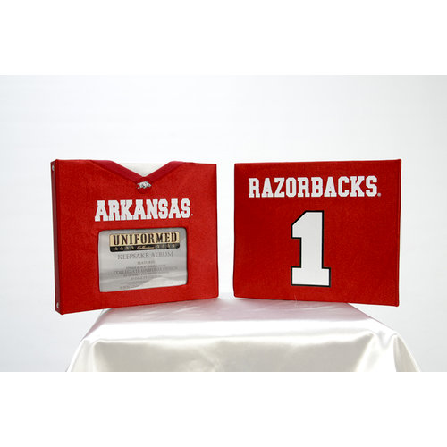 Uniformed Scrapbooks of America - 8 x 8 Photo and Keepsake Album - University of Arkansas