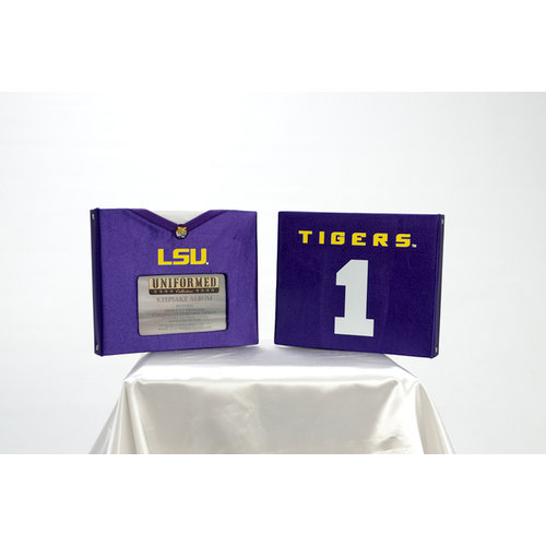 Uniformed Scrapbooks of America - 8 x 8 Photo and Keepsake Album - LSU
