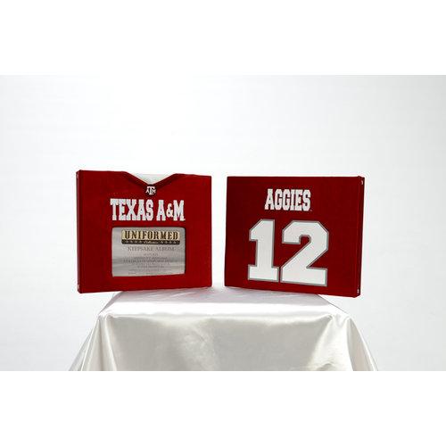 Uniformed Scrapbooks of America - 8 x 8 Photo and Keepsake Album - Texas A and M