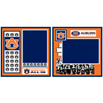 Uniformed Scrapbooks of America - 8 x 8 Page Kit - Auburn University