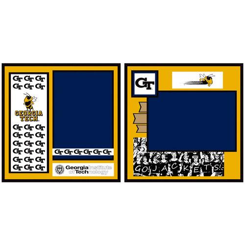 Uniformed Scrapbooks of America - 8 x 8 Page Kit - Georgia Tech