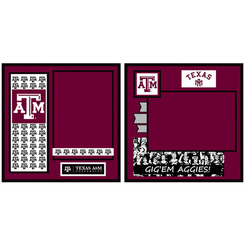 Uniformed Scrapbooks of America - 8 x 8 Page Kit - Texas A and M