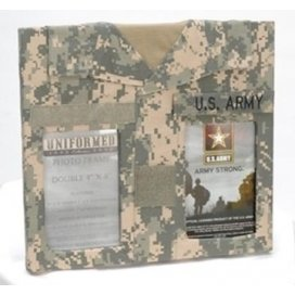 Uniformed Scrapbooks of America -  Double 4 x 6 Frame  - U.S. Army