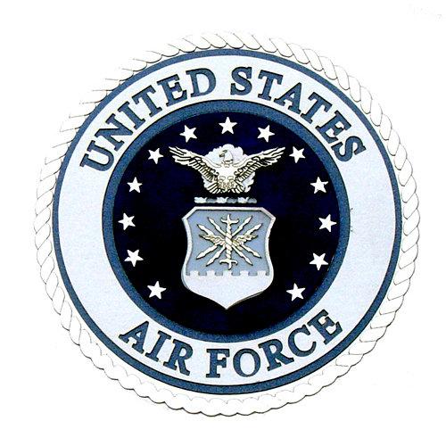 Uniformed Scrapbooks of America - 3 Dimensional Die Cut - Emblem - Air Force