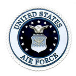 Uniformed Scrapbooks of America - 3 Dimensional Die Cut - Emblem - Air Force