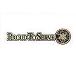 Uniformed Scrapbooks of America - 3 Dimensional Die Cut - Proud to Serve Title - Army