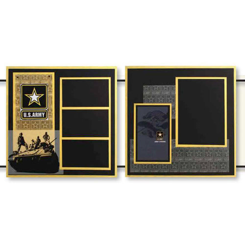 Uniformed Scrapbooks of America - 12 x 12 Page Kit - Army