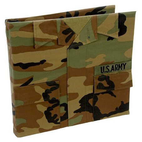 Uniformed Scrapbooks of America - 12 x 12 Postbound Album - Military Uniform Cover - Army - Battle Dress