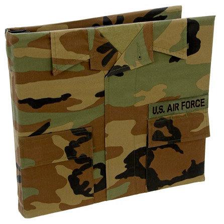 Uniformed Scrapbooks of America - 12 x 12 Postbound Album - Military Uniform Cover - Air Force - Battle Dress