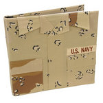 Uniformed Scrapbooks of America - 12 x 12 Postbound Album - Military Uniform Cover - Navy - Desert Battle Dress