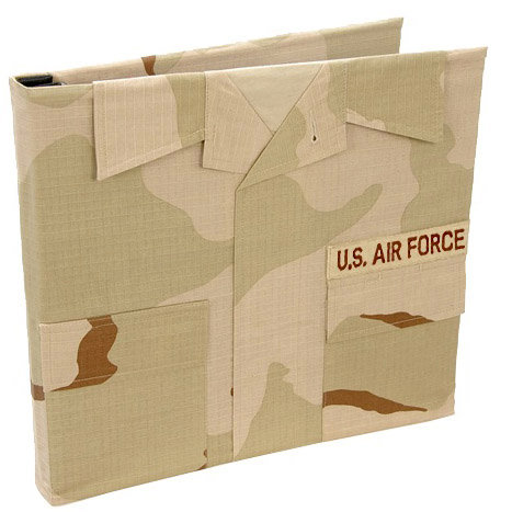 Uniformed Scrapbooks of America - 12 x 12 Postbound Album - Military Uniform Cover - Air Force - Desert Combat