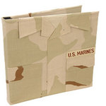 Uniformed Scrapbooks of America - 12 x 12 Postbound Album - Military Uniform Cover - Marines - Desert Combat