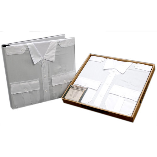 Uniformed Scrapbooks of America - 12 x 12 Postbound Album - Uniform Cover - Fire and Rescue - White