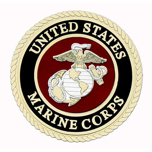 Uniformed Scrapbooks of America - 3 Dimensional Die Cut - Emblem - Marine