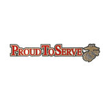 Uniformed Scrapbooks of America - 3 Dimensional Die Cut - Proud to Serve Title - Marine