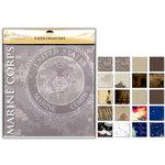 Uniformed Scrapbooks of America - 12 x 12 Paper Pack - U.S. Marine