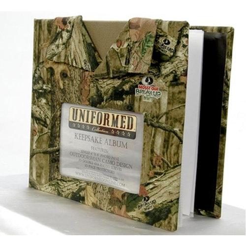 Uniformed Scrapbooks of America - Outdoorsman Collection - Mossy Oak Single 8 x 8 Photo and Keepsake Album - Break-Up Infinity