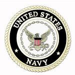 Uniformed Scrapbooks of America - 3 Dimensional Die Cut - Emblem - Navy