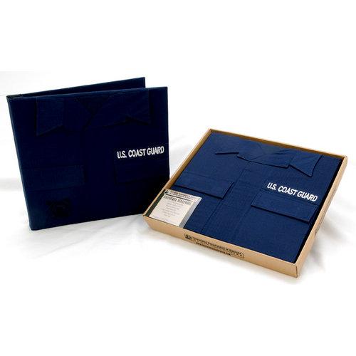 Uniformed Scrapbooks of America - 12 x 12 Postbound Album - Military Uniform Cover - U.S. Coast Guard
