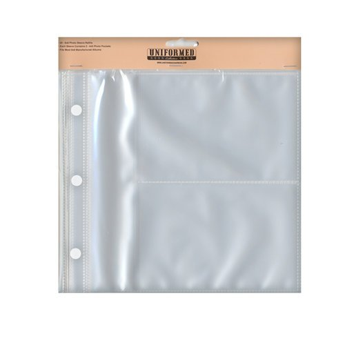 Uniformed Scrapbooks of America - 8 x 8 Postbound Page Protectors - Holds Two 4 x 6 Photos - 20 Pack