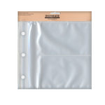 Uniformed Scrapbooks of America - 8 x 8 Postbound Page Protectors - Holds Two 4 x 6 Photos