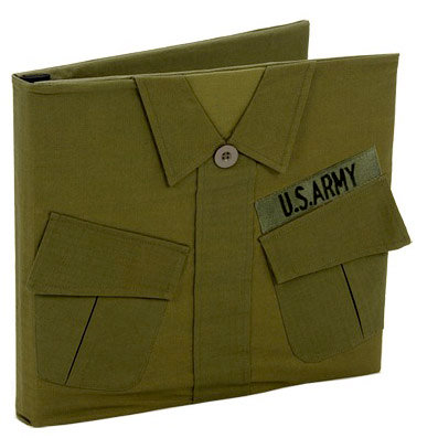 Uniformed Scrapbooks of America - 12 x 12 Postbound Album - Military Uniform Cover - Army - Vietnam
