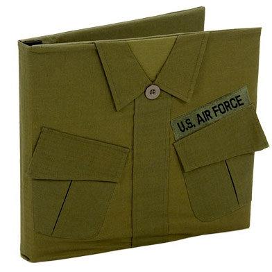 Uniformed Scrapbooks of America - 12 x 12 Postbound Album - Military Uniform Cover - Air Force - Vietnam