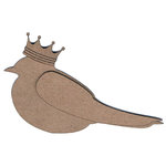 Leaky Shed Studio - Chipboard Shapes - Barn Swallow with Crown