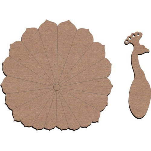 Leaky Shed Studio - Chipboard Shapes - Large - Peacock