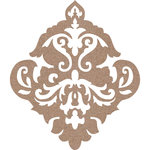 Leaky Shed Studio - Chipboard Shapes - Damask - Small