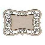 Leaky Shed Studio - Chipboard Shapes - Scroll Bracket Frame