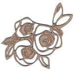 Leaky Shed Studio - Chipboard Shapes - Cabbage Roses