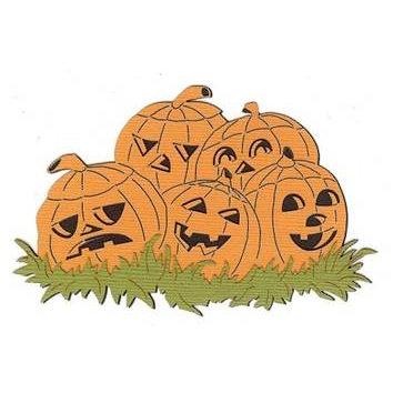 Leaky Shed Studio - Cardstock Die Cuts - Five Pumpkins