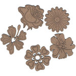 Leaky Shed Studio - Chipboard Shapes - Springtime Flowers