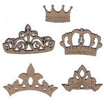 Leaky Shed Studio - Chipboard Shapes - Crown Set
